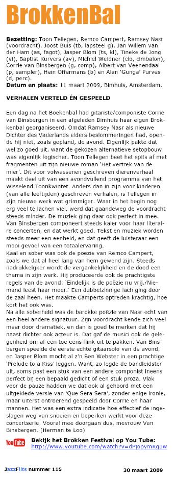 Corrie Van Binsbergen Toon Tellegen Het Wisselend Toonkwintet
